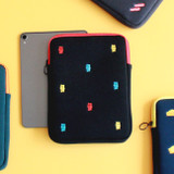 Wanna This Tailorbird embroidered tablet PC iPad zip pouch ver4