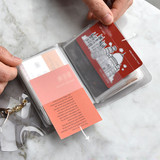 28 pockets - Play obje Feel so good shine card case book with key ring