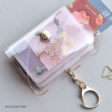 Blossom pink - Feel so good shine card case book with key ring