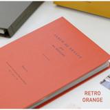 Retro orange - Album de photos 4X6 slip in pocket photo album