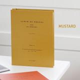 Mustard - Album de photos 4X6 slip in pocket photo album