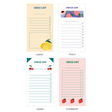 Option - Ardium Fruit checklist to do list memo notepad