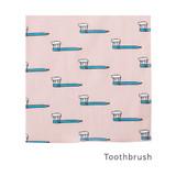 Toothbrush - Livework Illustration pattern squared edge hankie handkerchief