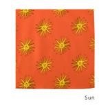 Sun - Livework Illustration pattern squared edge hankie handkerchief