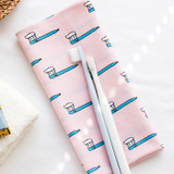 Toothbrush - Livework Illustration pattern squared edge hankie handkerchief