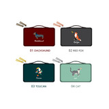 Option - Tailorbird embroidered medium cosmetic makeup pouch ver3