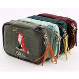 Double zipper - Wanna This Tailorbird embroidered handy pouch bag ver3