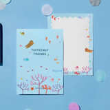 Example of use - Monopoly Toffeenut sweet and warm illustration letter memo notepad
