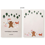 Parade - Monopoly Toffeenut sweet and warm illustration letter memo notepad