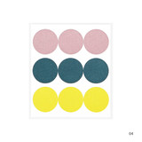 04 - Dailylike Color 22mm circle deco sticker 4 sheets