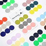 Dailylike Color 22mm circle deco sticker 4 sheets