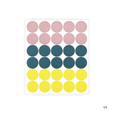 04 - Dailylike Color 12mm circle deco sticker 4 sheets