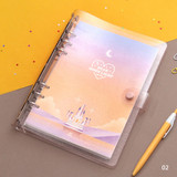 02 - Second Mansion Moonlight 6-ring A5 size grid notebook