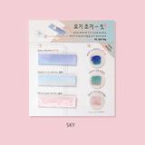 Sky - PLEPLE illustration sticky it bookmark memo notepad set