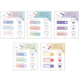 PLEPLE illustration sticky it bookmark memo notepad set