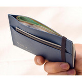 Elastic band closure - Byfulldesign Oxford palm flat card case wallet