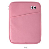 Pink - Livework Som Som pocket tablet iPad zip fabric pouch
