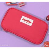 Hot pink - Second Mansion Etudes zip around fabric pencil case pouch