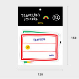Size - 2NUL Traveler colorful luggage deco sticker set