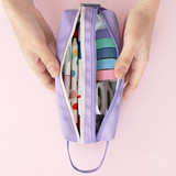 2 compartment - ICONIC Bonheur constant double zipper pencil case pen pouch