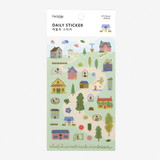 Dailylike Daily transparent deco sticker - House
