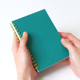 Small size - Indigo Prism small spiral blank notebook