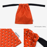 Dailylike Fruit party cherry daily cotton drawstring pouch