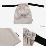 Dailylike Happy daily cotton drawstring pouch