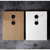 String tie paper photo storage box