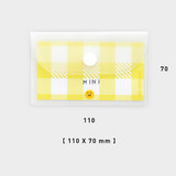 Size - 2NUL Smile mini clear card snap pouch case