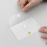 Velcro snap closure - 2NUL Smile mini clear card snap pouch case