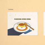 Pudding - Ardium Cute virus message postcard