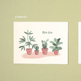Flower pot - Ardium Cute virus message postcard