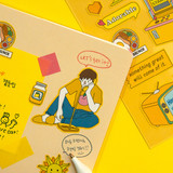 Example of use - Pop illustration colorful point paper deco sticker ver2
