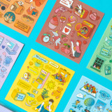 Pop illustration colorful point paper deco sticker ver2