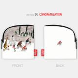 Congratulation - All new frame Myeongmi Choi E collection mini zipper pouch