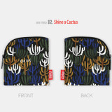 Shine a cactus - All new frame F collection mini zipper pouch