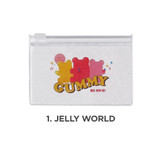 Jelly world - Be on D 90s coolkids party small clear zip lock pouch