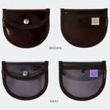 Color - Livework Coi clear PVC snap button card case wallet