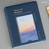 Steel blue - ICONIC Instax mini polaroid slip in photo album ver4