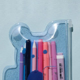 Example of use - Jelly bear medium clear zip lock pouch