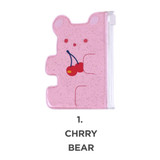 Cherry bear - Jelly bear party small clear zip lock pouch