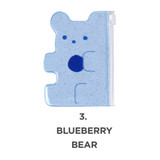 Blueberry bear - Jelly bear party small clear zip lock pouch
