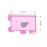 Size of Jelly bear party small clear zip lock pouch