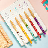 Color - MONAMI 153 icecream knock retractable ballpoint pen set