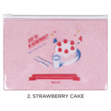 Strawberry cake - For me party medium clear zip lock pouch