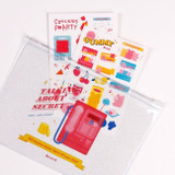 Example of use - For me party medium clear zip lock pouch