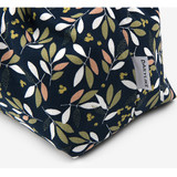 Dailylike Peaceful flower soft oxford cotton bucket drawstring pouch