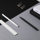 Example of use - MONAMI 153 black and white knock retractable ballpoint pen
