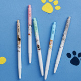 Example of use - MONAMI 153 puppy knock retractable ballpoint pen set